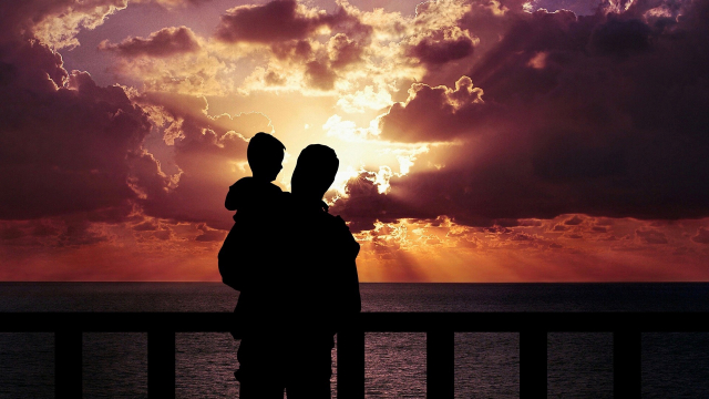 father_son_sunset